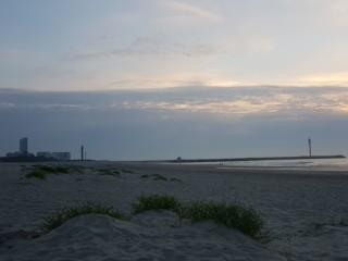Oostende strand bij fort Napoleon